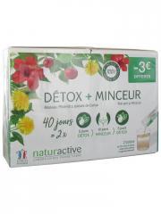 Naturactive Détox 20 Sticks Fluides + Minceur 20 Sticks Fluides - Lot 2 x 20 sticks de 10 ml
