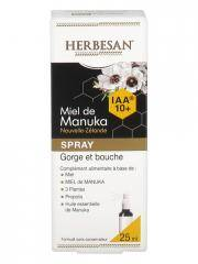 Herbesan Miel de Manuka Spray Gorge et Bouche IAA 10+ 25 ml - Flacon pulvérisateur 25 ml
