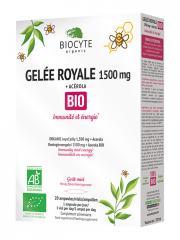 Biocyte Gelée Royale 1500 mg + Acérola Bio 20 Ampoules - Boîte 20 ampoules de 10 ml