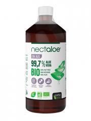 Santé Verte Nectaloe Aloe Vera 99,7% en Jus Bio 1 L - Bouteille 1000 ml