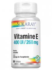 Solaray Vitamine E 400 I.U 50 Gélules - Boîte 50 gélules