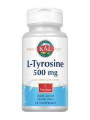 Kal L-Tyrosine 500 mg 30 Comprimés - Boîte plastique 30 comprimés