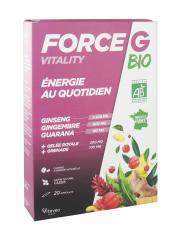 Nutrisanté Force G Vitality Énergie au Quotidien Bio 20 Ampoules - Boîte 20 ampoules de 10 ml