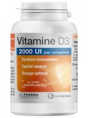 3C Pharma Vitamine D3 30 Comprimés - Pot 30 comprimés de 500 mg