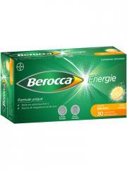 Berocca Énergie Goût Orange 30 Comprimés Effervescents Sans Sucres - Boîte 30 Comprimés effervescent