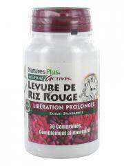 Natures Plus Herbal Actives Levure De Riz Rouge Libération Prolongée 30 Comprimés - Flacon 30 comprimés