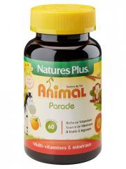 Natures Plus Animal Parade Source De Vie Enfant Arôme Orange 60 Comprimés - Flacon 60 comprimés à croquer