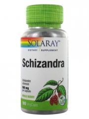 Solaray Schizandra 100 Capsules Végétales - Pot 100 capsules végétales