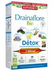 Super Diet Drainaflore Bio Détox 20 Ampoules - Boîte 20 ampoules de 15 ml