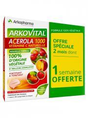 Arkopharma Arkovital Acerola 1000 Lot de 2 x 30 Comprimés - Lot 2 x 30 comprimés