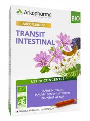 Arkopharma Arkofluides Transit Intestinal Bio 20 Ampoules - Boîte 20 ampoules de 10 ml