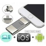 Cle USB pour smartphone - Compatible IOS & Android Rose 16GB