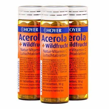 Hoyer, Acérola - fruits sauvages vitamine C