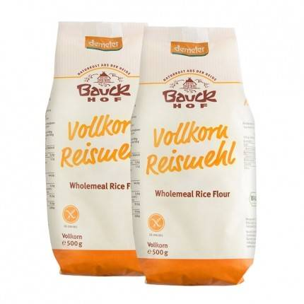 Bauckhof, farine de riz complète bio