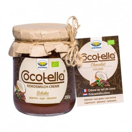 Govinda Cocoletta Crème de Lait de Coco Bio, Chocolat