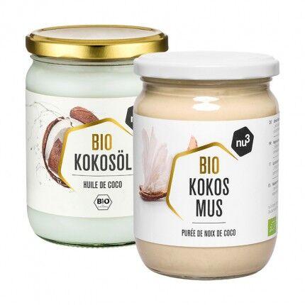 nu3 Huile de coco bio + Purée de noix de coco