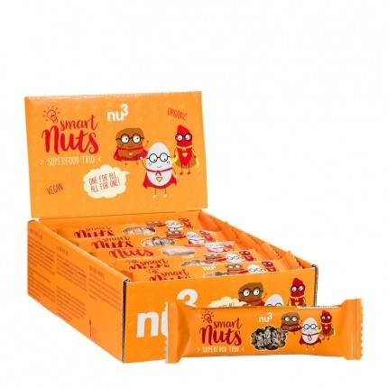 nu3, Smart Nuts Superfood Trio bio, barre