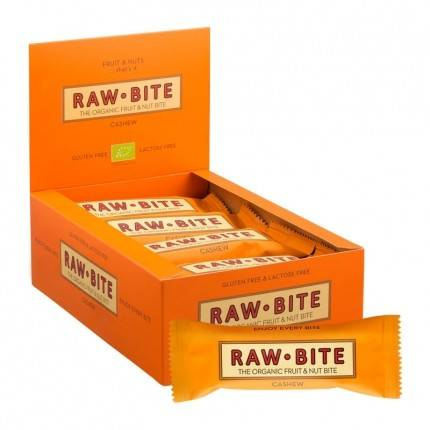 Rawbite Raw Bite, Noix de cajou, barres