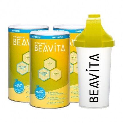 BEAVITA Vitalkost sans lactose, Pack Pro + Shaker BEAVITA