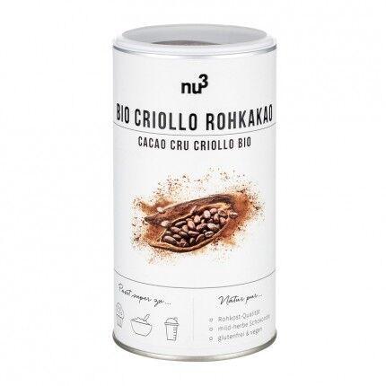 nu3, Cacao Criollo cru bio, poudre