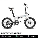 EOVOLT Vélo électrique EOVOLT Confort blanc 20 pouces
