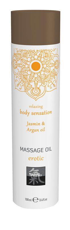 Shiatsu Huile de massage érotique - Huile de jasmin et d'argan