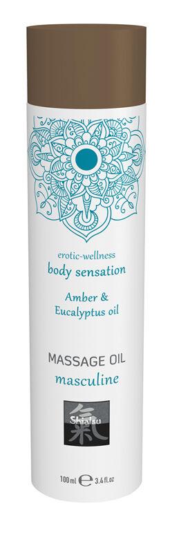Shiatsu Huile de massage masculin - ambre et eucalyptus