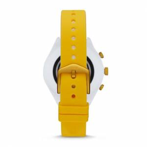 Fossil Women Montre Connectée Fossil Sport De 41 Mm En Silicone Jaune - One size