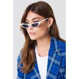 NA-KD Accessories Pointy Edge Retro Sunglasses - White