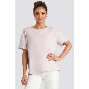 NA-KD Basic Basic Oversized Tee - Pink