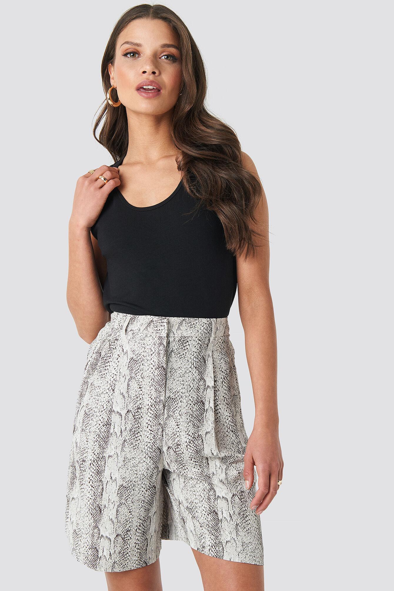 MANGO Winona Shorts - Grey