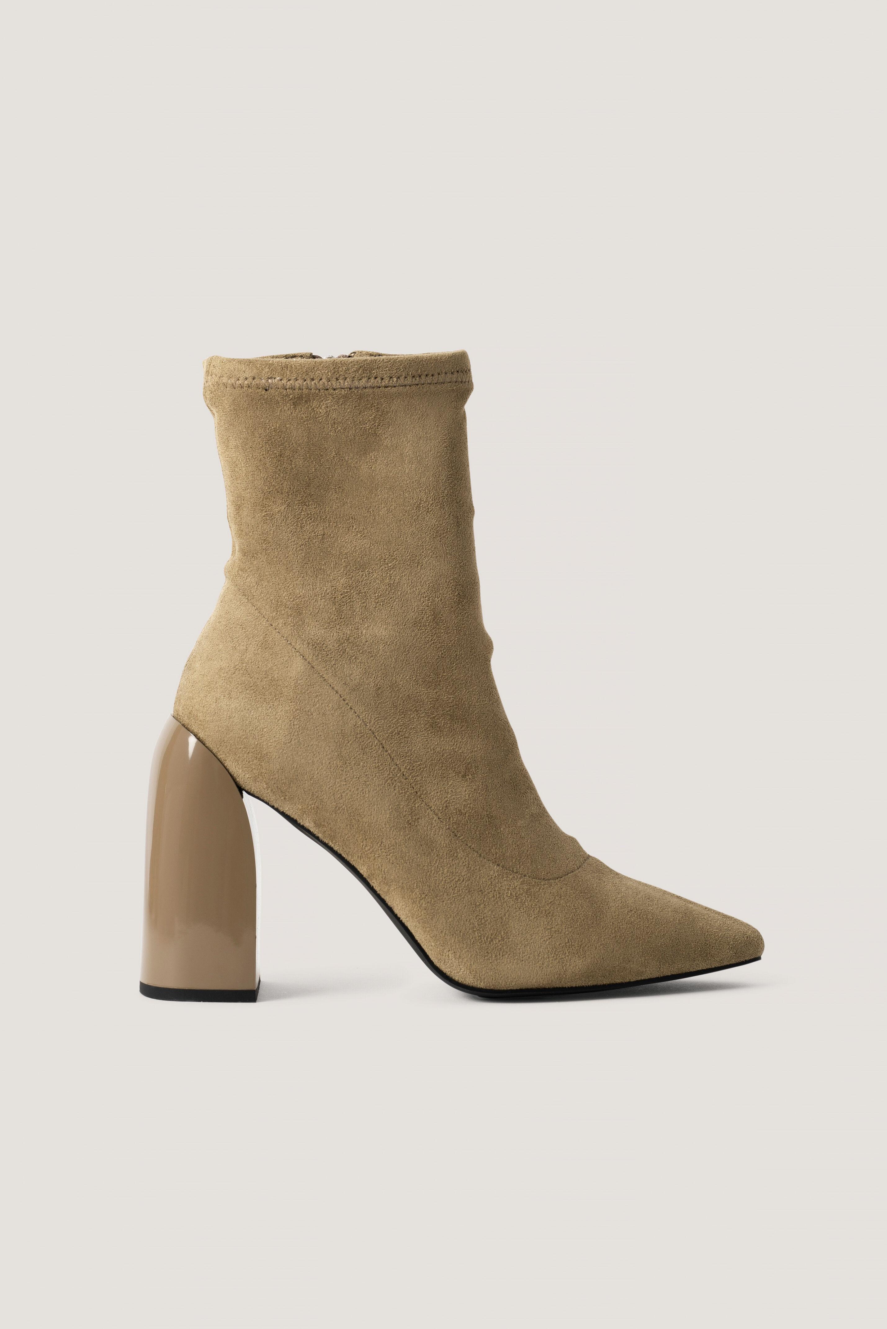 NA-KD Shoes Botte Chaussette - Beige