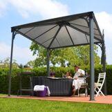 OUTIROR Tonnelle jardin alu -Couv'Terrasse® - 8,7m² - gris