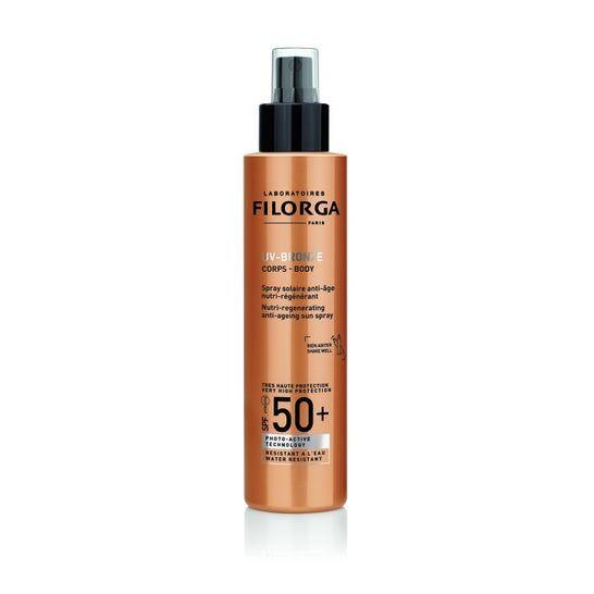 Filorga Uv Bronze Corps Spf50+ Spray Solaire Anti Age Nutri Régénérant 150mL
