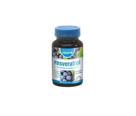 Naturmil Resvératrol avec extrait de pépins de raisin 60 Capsules