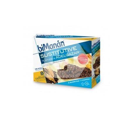 biManán® biManán™ Substitut à la saveur de céréales aux pépites de chocolat 8 barres