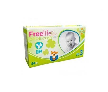 Bebe Cash Baby Cash Freelife couches-culottes taille 3 54 pcs