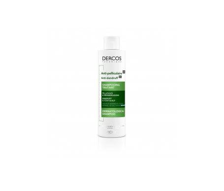 Vichy dercos Shampooing Traitant Anti pelliculaire Cheveux Normaux a Gras 200mL
