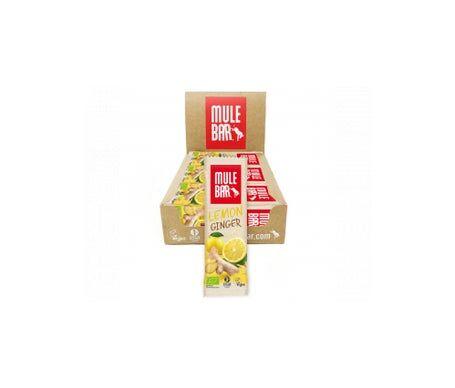 Mulebar Barre Énergétique Bio & Vegan Citron Gingembre 15 barres