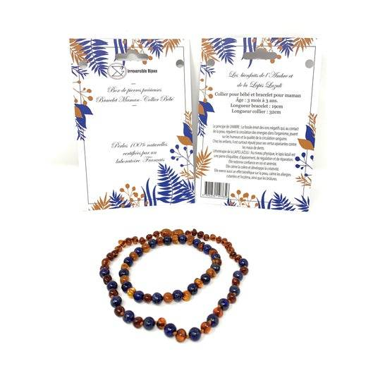 IRREVERSIBLE Irréversible Box Bijoux D'Ambre & Lapis Lazuli