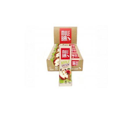Mulebar Barre Énergétique Bio & Vegan Pomme Cannelle 15 barres
