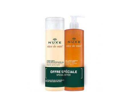 Nuxe Rève de Miel crème corps + gel lavant 2x400 ml