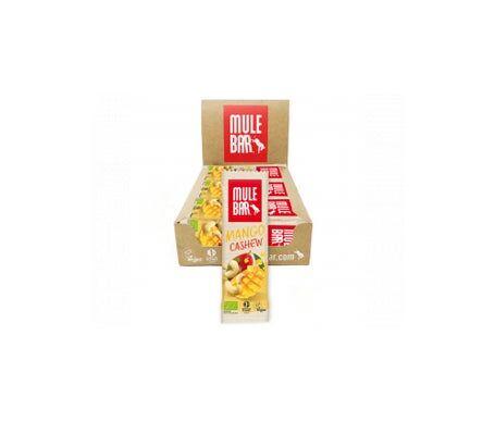 Mulebar Barre Énergétique Bio & Vegan Mangue Noix de Cajou 15 barres