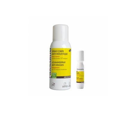 Pranarôm Aromapic Spray Anti-Moustique 75ml + Roller Piqûres Gel Apaisant 15ml