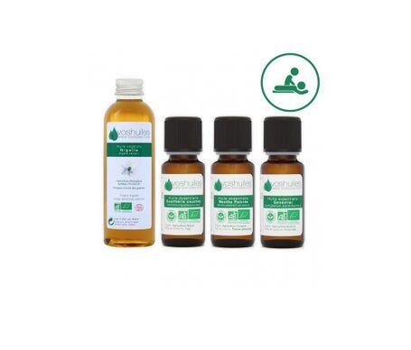 Voshuiles Kit « Massage Du Dos » 3 Huiles Essentielles Bio Et 1 Huile Végétale Bio