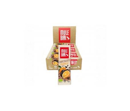 Mulebar Barre Énergétique Bio & Vegan Chocolat Orange 15 barres