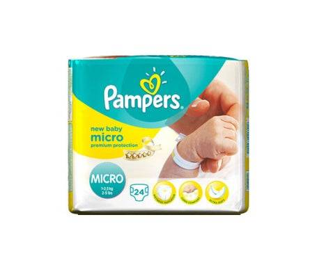 Pampers Micro New Baby 12,5Kg (24 Couches)