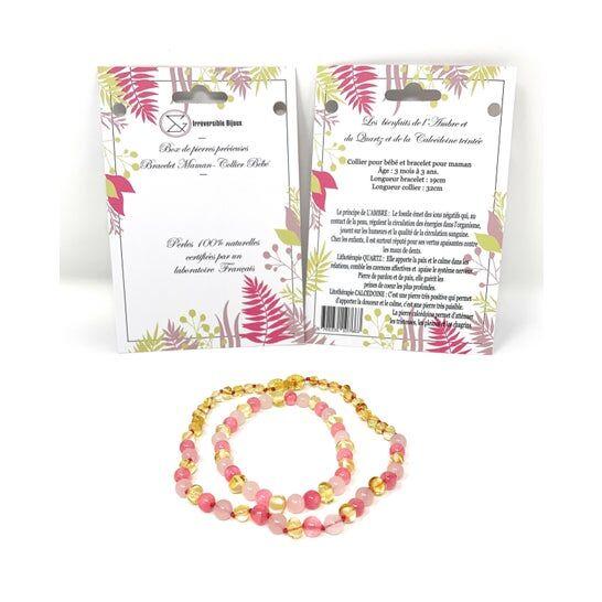 IRREVERSIBLE Irréversible Box Bijoux D'Ambre Quartz Rose & Calcédoine Teintée