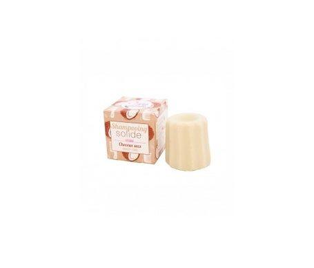 Lamazuna Shampooing Lamazuna à la vanille solide et à la noix de coco pour cheveux secs 55g