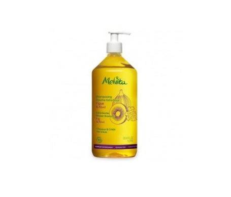 Melvita shampoing familial extra-doux Figue Kiwi 1 litre